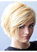Perruque Classique Lisse Capless Cheveux Humains