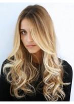 Perruque Splendide Ondulée Lace Front Cheveux Humains