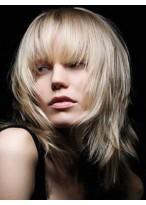 Perruque Séduisante Lisse Capless Mi-Longue Longueur Cheveux Natureles