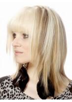 Perruque Jolie Mi-Longue Longueur Cheveux Natureles Capless