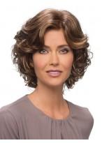Perruque Chic Ondulée Lace Front De Cheveux Naturels