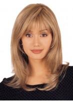 Perruque Mi-Longue Lace Front Multicouche De Cheveux Naturels