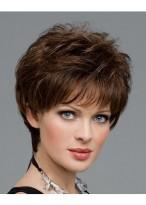 Perruque Confortable Ondulée Capless Cheveux Naturels