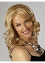 Perruque Lace Synthétique Blonde Ondulée De Longueur D'Épaule