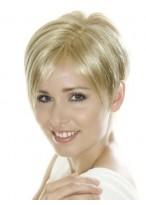Perruque Lace Synthétique Courte Blonde