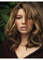 Perruque Populaire Lace Front Ondulée Cheveux Humains