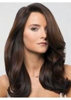 Perruque Merveilleuse Longue Ondulée Cheveux Humains Lace Front