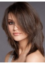 Perruque Abordable Lisse Cheveux Humains Lace Front