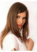 Perruque Lisse Longue Lisse Lace Front Cheveux Humains