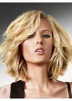 Perruque Jolie Cheveux Naturels Ondulée Lace Front