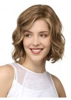 Perruque Agréable Ondulée Cheveux Humains Lace Front
