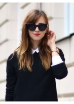 Perruque Jolie Lisse Cheveux Naturels Lace Front