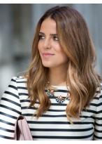 Perruque Confortable Ondulée Cheveux Naturels Lace Front