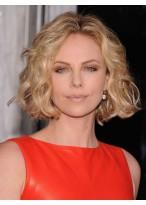 Perruque Féminine Synthétique Blonde Ondulée